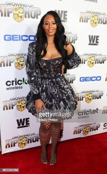 """Vanessa Simmons attends WEtv and The Cast of """"Growing Up Hip Hop"""" screening event and celebration at The London West Hollywood on May 22, 2018 in..."""