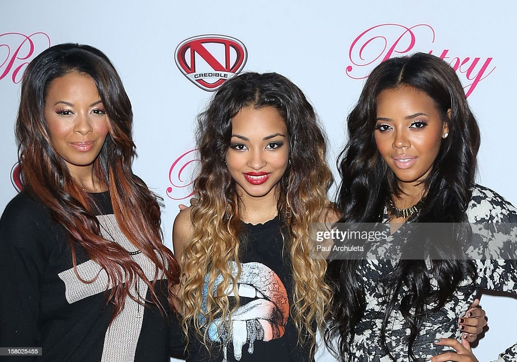 Vanessa Simmons, Jessica Jarrell and Jessica Jarrell attend the 'Skate & Donate' charity event at the Moonlight Rollerway on December 8, 2012 in Glendale, California.