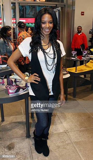 Vanessa Simmons promotes the new shoe The Smoothie at Foot Locker Times Square on September 10 2009 in New York City