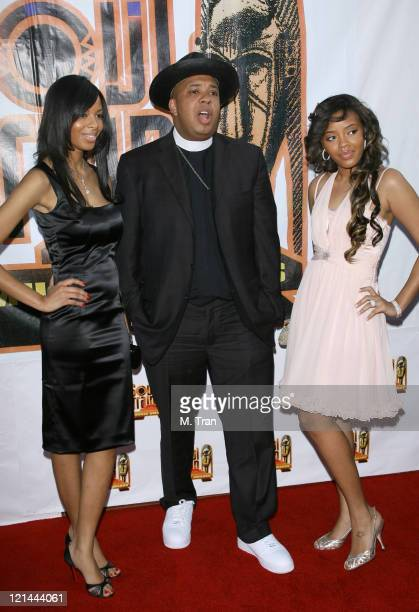 Vanessa Simmons Reverend Run and Angela Simmons during 21st Annual Soul Train Music Awards Arrivals at Pasadena Civic Auditorium in Pasadena...