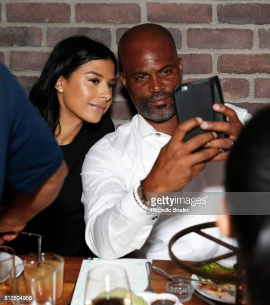 Vanessa Spencer and actor/producer Chris Spencer attend Haute Living Celebrates Jada Pinkett Smith with Armand de Brignac at Catch LA on July 10 2017...