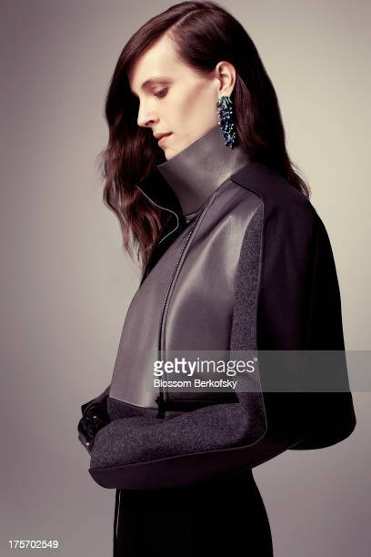Vanessa Traina Danielle Steel's daughter and Executive Creative Director Assembled Brands and The Line poses at a fashion shoot for Glamour Magazine...