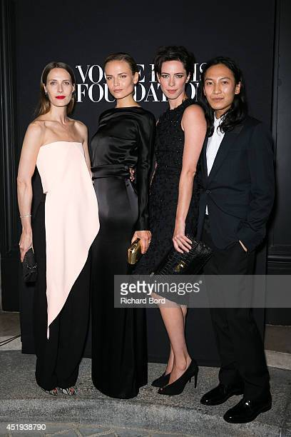 Vanessa Traina Natasha Poly a guest and Alexander Wang attend the Vogue Foundation Gala as part of Paris Fashion Week at Palais Galliera on July 9...