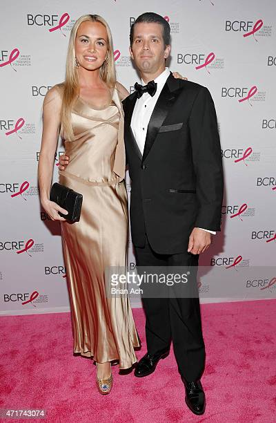 Vanessa Trump and Donald Trump Jr are seen during the The Breast Cancer Research Foundation 2015 Pink Carpet Party at The WaldorfAstoria on April 30...
