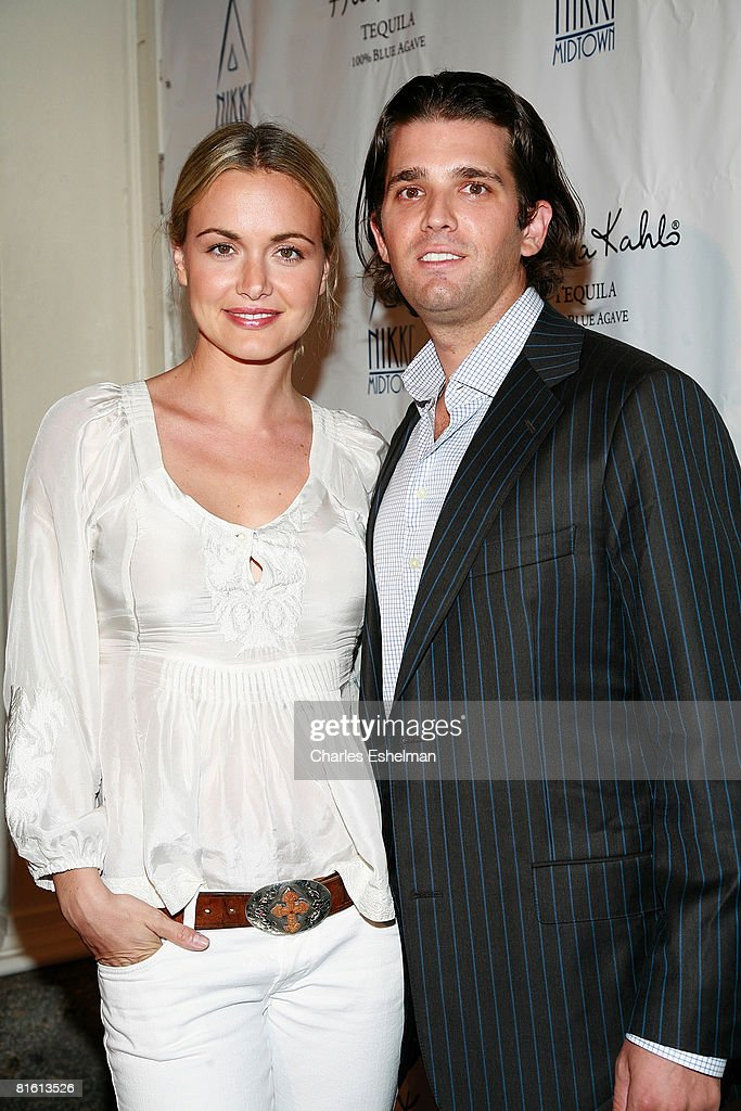 Vanessa Trump and Donald Trump Jr. arrive at Thalia's 'Lunada' Album Release Party on June 17, 2008 at Nikki Midtown in New York.