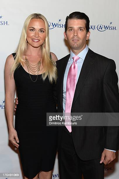 Vanessa Trump and Donald Trump Jr attend An Evening of Wishes MakeAWish Metro New York's 30th Anniversary Gala at Cipriani Wall Street on June 13...