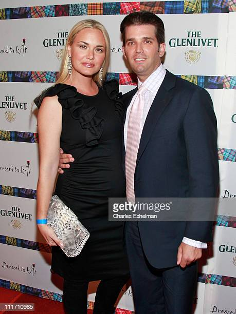 Vanessa Trump and Donald Trump Jr attend the 9th Annual Dressed To Kilt Benefit at Hammerstein Ballroom on April 5 2011 in New York City