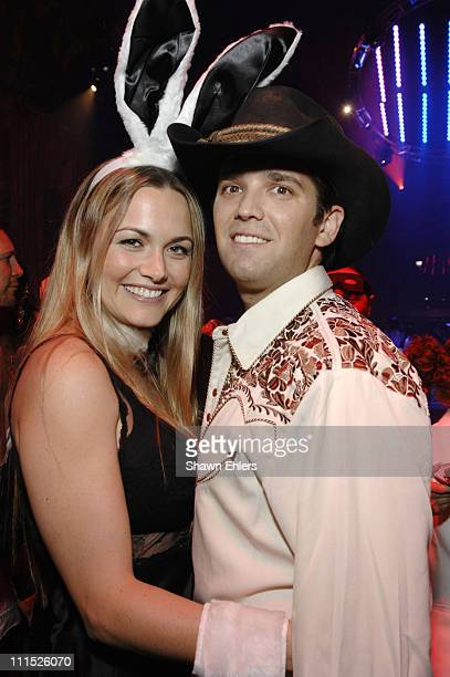 Vanessa Trump and Donald Trump Jr attend the Roberto Cavalli Vodka and Giuseppe Cipriani Halloween Party at Cipriani's 42nd Street on October 31 2007...
