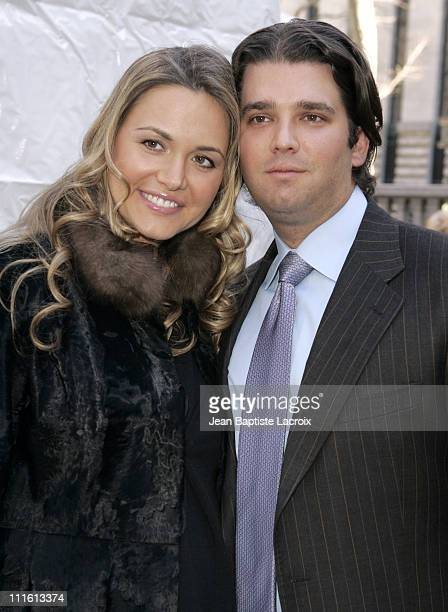Vanessa Trump and Donald Trump Jr during MercedesBenz Fashion Week Fall 2007 Seen Around Bryant Park Day 5 at Bryant Park in New York City New York...