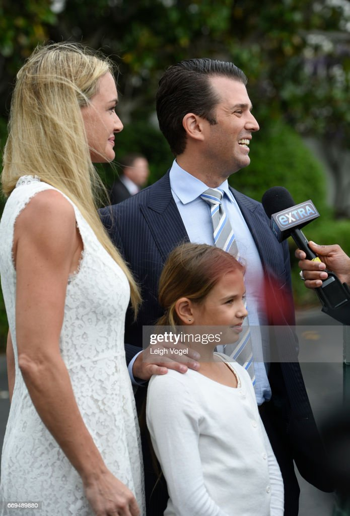 Vanessa Trump, Donald Trump, Jr., and daughter Kai attend the 139th White House Easter Egg Roll at The White House on April 17, 2017 in Washington, DC.