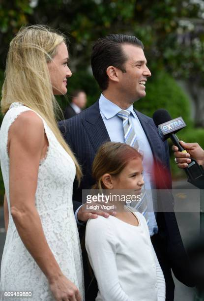 Vanessa Trump Donald Trump Jr and daughter Kai attend the 139th White House Easter Egg Roll at The White House on April 17 2017 in Washington DC