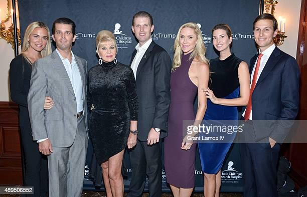 Vanessa Trump Donald Trump Jr Ivana Trump Eric Trump Lara Trump Ivanka Trump and Jared Kushner attend the 9th Annual Eric Trump Foundation Golf...