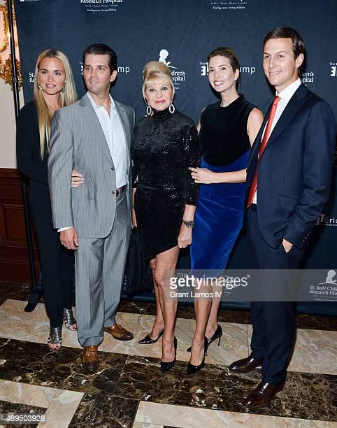 Vanessa Trump Donald Trump Jr Ivana Trump Ivanka Trump and Jared Kushner attend the 9th Annual Eric Trump Foundation Golf Invitational Auction Dinner...