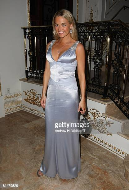 RATES Vanessa Trump poses during the wedding of Ivana Trump and Rossano Rubicondi at the MaraLago Club on April 12 2008 in Palm Beach Florida