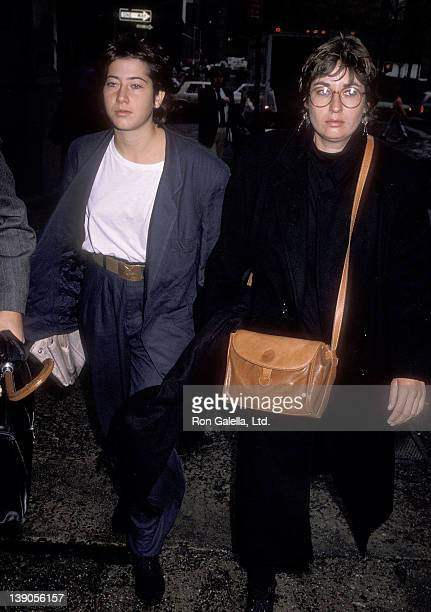 Vanessa Vadim and halfsister Nathalie Vadim arrive for Vanessa's trial for interfering in a police arrest with her boyfriend on November 3 1989 at...