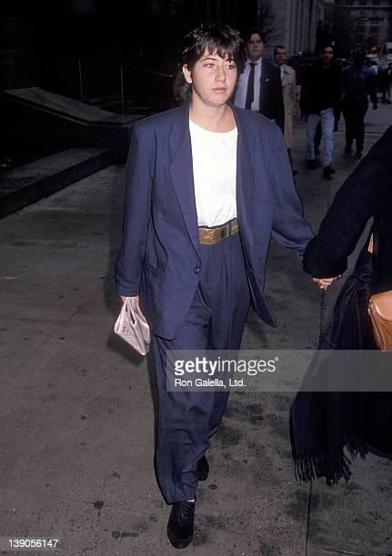 Vanessa Vadim arrives for her trial for interfering in a police arrest with her boyfriend on November 3 1989 at Mahattan Criminal Court in New York...