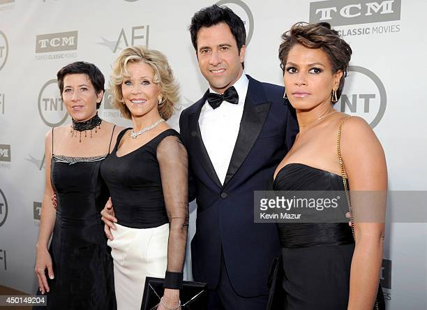 Vanessa Vadim honoree Jane Fonda actor Troy Garity and Simone Ben attend the 2014 AFI Life Achievement Award A Tribute to Jane Fonda at the Dolby...