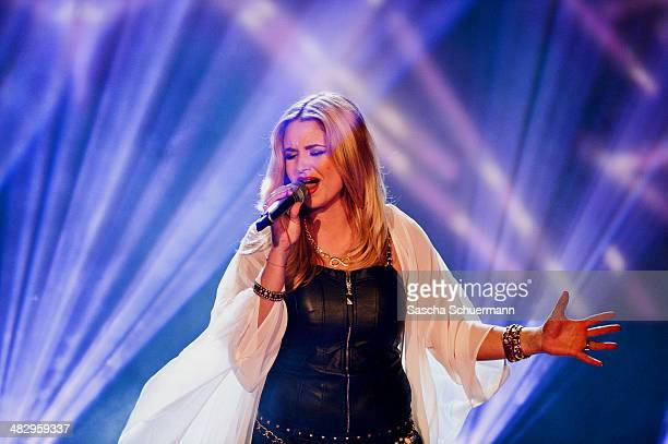 Vanessa Valera Rojas performs at the rehearsal for the 2nd 'Deutschland sucht den Superstar' show at Coloneum on April 5 2014 in Cologne Germany