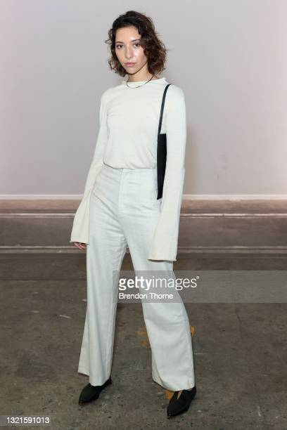 Vanessa Valladares attends the St. Agni show during Afterpay Australian Fashion Week 2021 Resort '22 Collections at Carriageworks on June 04, 2021 in...