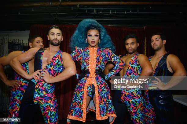 Vanessa Vanjie Mateo aka Miss Vanjie poses backstage at RuPaul's DragCon Pageant at Orpheum Theatre on May 13 2018 in Los Angeles California