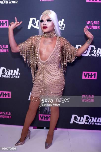 Vanessa Vanjie Mateo attends 'RuPaul's Drag Race' Season 10 Meet The Queens at TRL Studios on March 21 2018 in New York City