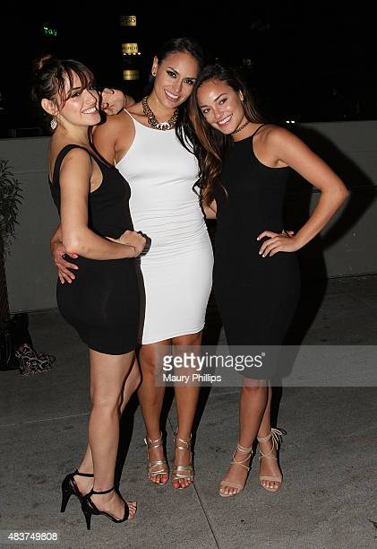Vanessa Vasquez Jes Meza and Alexandra Rodriguez attend A Toast to Latinos In Hollywood presented by Hennessy and 'East Los High' at The Line Hotel...