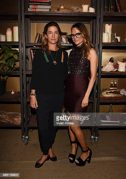 Vanessa von Bismarck and Founder Of Rodial Maria Hatzistefanis attend Maria Hatzistefanis Founder Of Rodial And Hanneli Mustaparta Host A Rodial...