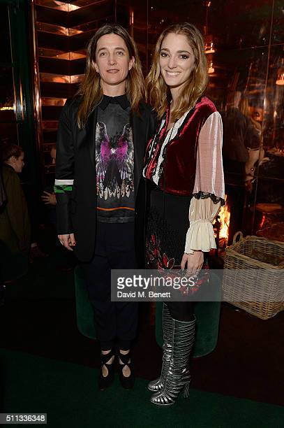 Vanessa Von Bismarck and Sofia Sanchez de Betak attend a dinner hosted by The Luxury Collection Hotels Resorts and GlobeTrotter to celebrate the...