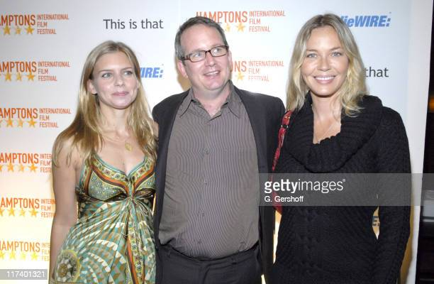 Vanessa Wanger, Ted Hope and Connie Nielsen during 14th Annual Hamptons International Film Festival - Industry Toast to Ted Hope at East Hampton...