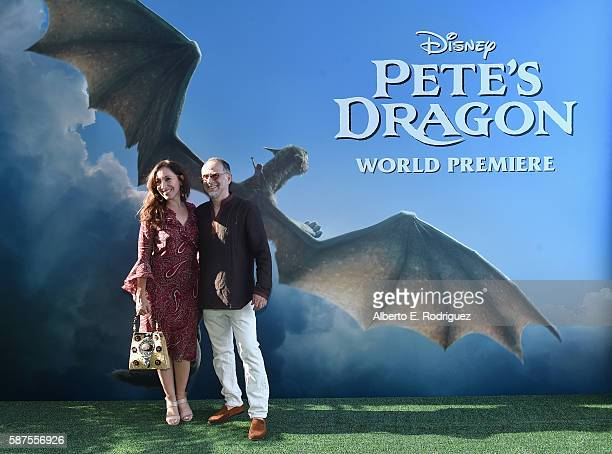 Vanessa Waters and actor John Kassir arrive at the world premiere of Disney's 'PETE'S DRAGON' at the El Capitan Theater in Hollywood on August 8 2016...