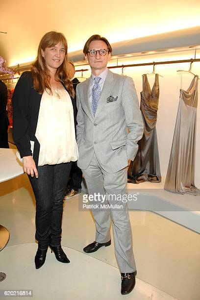Vanessa Weiner von Bismarck and Hamish Bowles attend CARLOS MIELE and VOGUE Rainforest Foundation Event at Carlos Miele Store on April 30 2008 in New...
