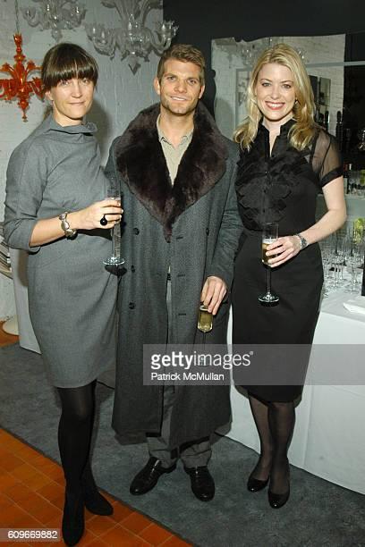 Vanessa Weiner von Bismarck Andrew Fry and Amy McFarland attend NEW YORKERS FOR CHILDREN SALVIATI CHARITY BENEFIT at Salviati on December 13 2007 in...