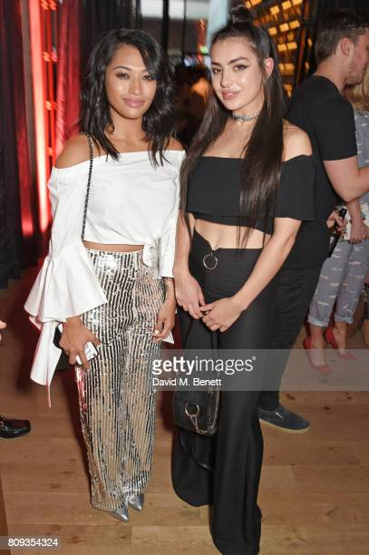 Vanessa White and Charli XCX attend the Warner Music Group and British GQ Summer Party in partnership with Quintessentially at Nobu Hotel Shoreditch...
