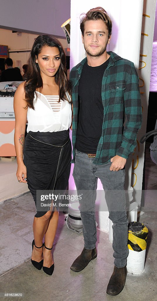 Vanessa White and Gary Salter attend the Nokia Lumia 630 #100aires Pop-up store, at The Old Truman Brewery on July 2, 2014 in London, England.