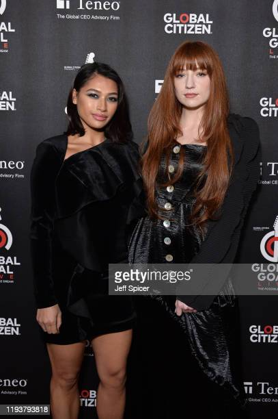 Vanessa White and Nicola Roberts attend the 2019 Global Citizen Prize at the Royal Albert Hall on December 13 2019 in London England