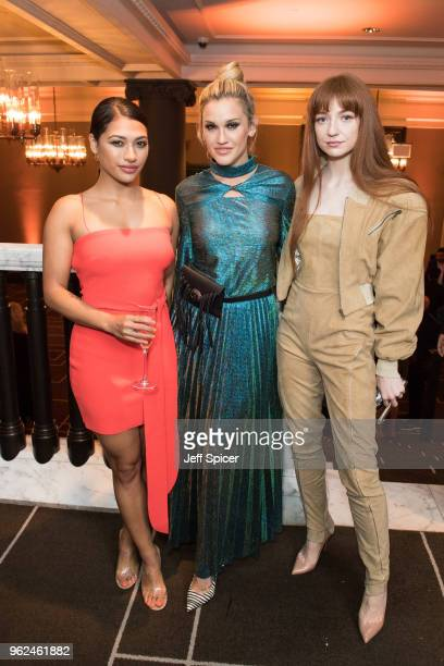 Vanessa White Ashley Roberts and Nicola Roberts attend the inaugural International Fashion Show at Rosewood Hotel on May 25 2018 in London England