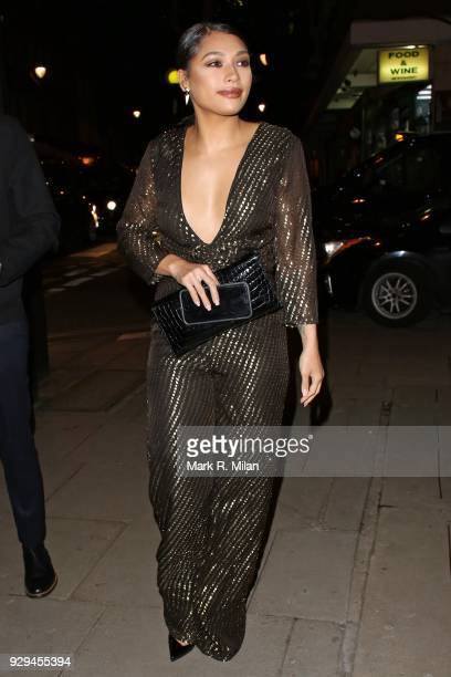 Vanessa White attending the Bardou Foundation International Women's Day celebration at the Hospital Club on March 8 2018 in London England