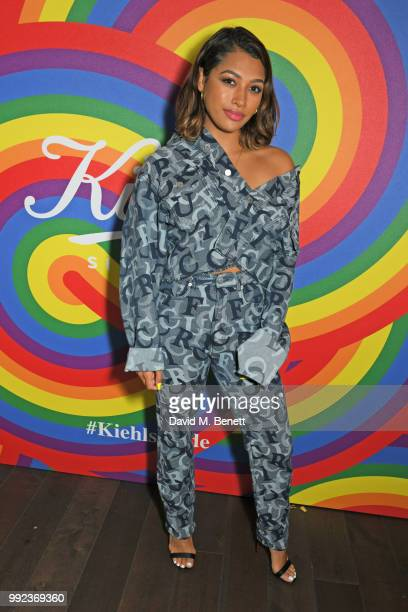 Vanessa White attends Kiehl's 'We Are Proud' party to celebrate Pride on July 5 2018 in London England