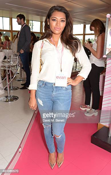 Vanessa White attends the evian Live Young suite on the opening day of Wimbledon at the All England Lawn Tennis and Croquet Club on June 23 2014 in...