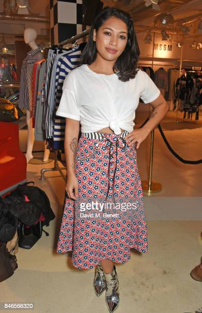 Vanessa White attends the launch of the House of Holland x Woody Woodpecker London Fashion Week pop up at Fenwick Of Bond Street on September 13 2017...
