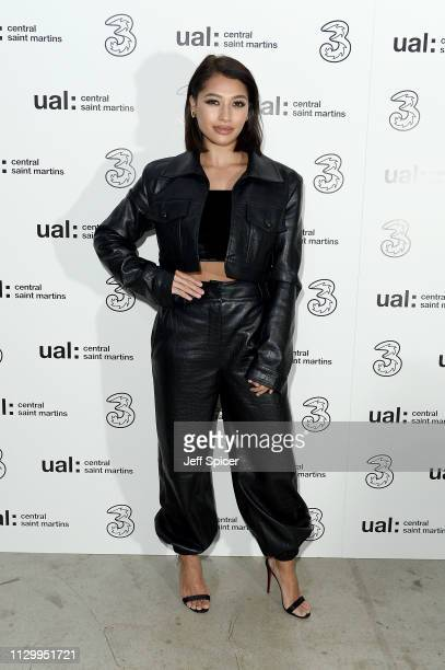 Vanessa White attends the Three Fashion Fuelled by 5G After Party following the Central St Martins MA Show during London Fashion Week at Central St...