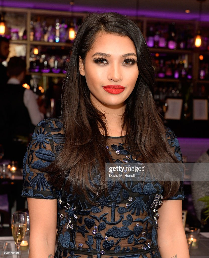 Vanessa White attends the Urban Decay x Gwen VIP dinner at Hotel Chantelle on December 8, 2015 in London, England.