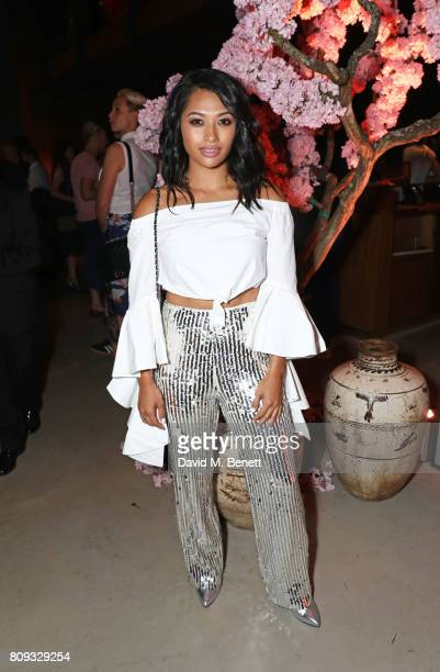 Vanessa White attends the Warner Music Group and British GQ Summer Party in partnership with Quintessentially at Nobu Hotel Shoreditch on July 5 2017...