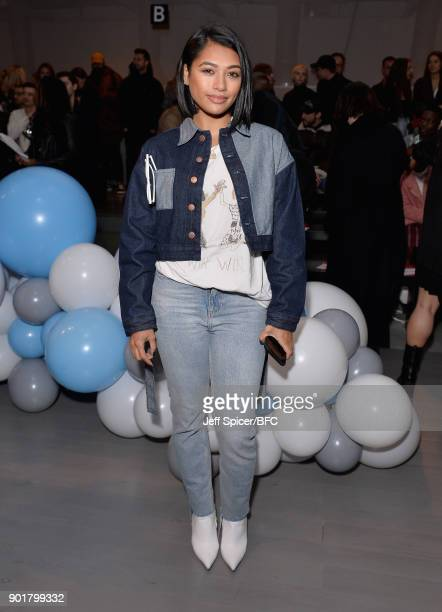 Vanessa White attends the What We Wear show during London Fashion Week Men's January 2018 at BFC Show Space on January 6 2018 in London England