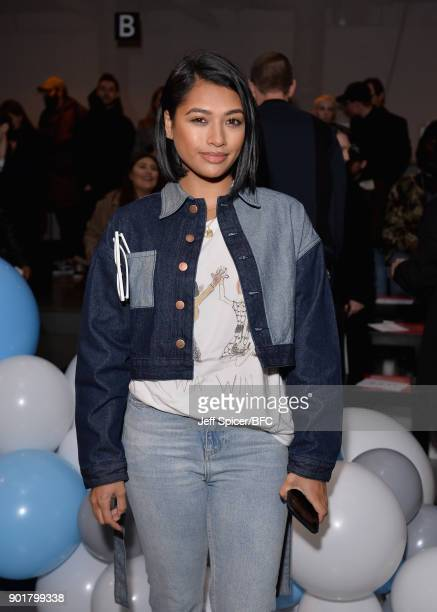 Vanessa White attends the What We Wear show during London Fashion Week Men's January 2018 at BFC Show Space on January 6, 2018 in London, England.