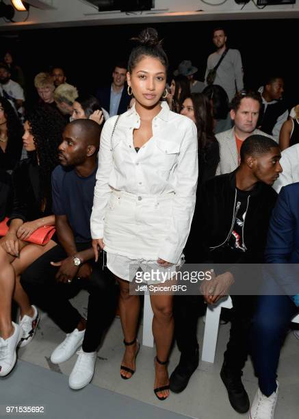 Vanessa White attends the What We Wear show during London Fashion Week Men's June 2018 at the BFC Show Space on June 11 2018 in London England