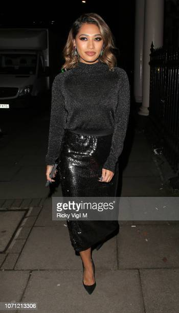 Vanessa White hosts a dinner for fashion brand Lindex at 38 Grosvenor Sq. On November 22, 2018 in London, England.