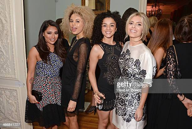 Vanessa White Jess Plummer Shereen Cutkelvin and Mollie King attend the InStyle Best of British Talent party in celebration of BAFTA in association...
