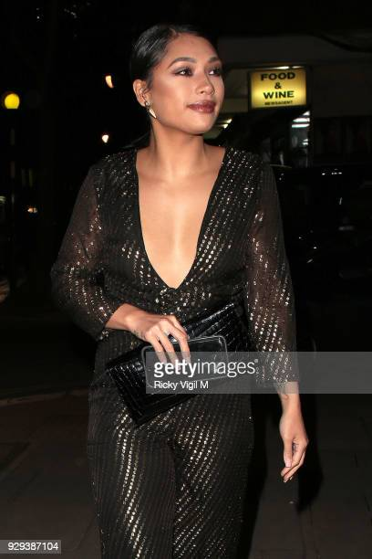 Vanessa White seen attending The Bardou Foundation: International Women's Day Gala at The Hospital Club on March 8, 2018 in London, England.