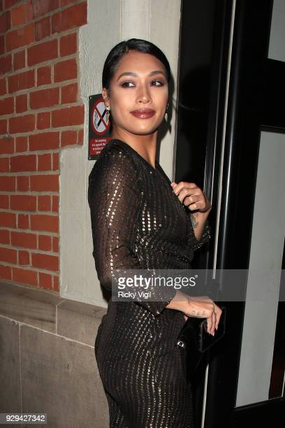 Vanessa White seen attending The Bardou Foundation International Women's Day Gala at The Hospital Club on March 8 2018 in London England